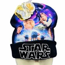 Star Wars beanie hat Empire Strikes Back Solo Luke Lando Leia Darth Vade... - $24.07