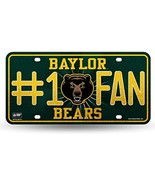 NCAA Baylor Bears Bling #1 Fan Metal License Plate Tag - $4.99