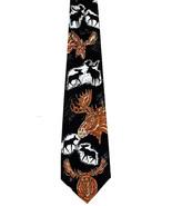 Moose On The Loose Men's Neck Tie Animal Nature Wildlife Gift Black Necktie - $15.79