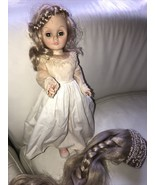 1978 Vintage Effanbee Jointed Sleep Eye Rapunzel? Doll With Wig & Shoes - $99.99