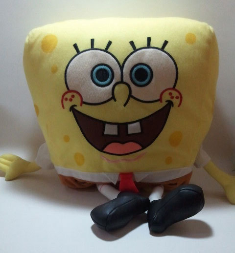 "Spongebob Squarepants Large 16"" Pillow Plush * Nickelodeon * Nanco"