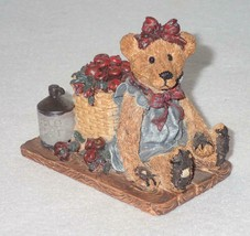 Boyd Bearstone Resin Bears Bailey In The Orchard Figurine #2006 18E NEW ... - $8.56