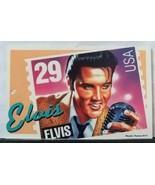 Elvis Presley Memorabilia Stamp Postcard - $9.00
