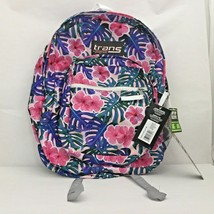 "Trans by JanSport 17"" Supermax Backpack Monstera Vibes, Floral School Tr... - $14.99"
