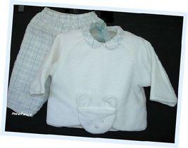 Baby Mini Par Catimini Boy Quilted 2 Pc Outfit EUR 67cm - $15.00