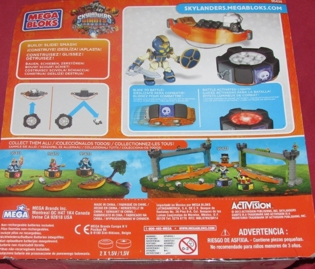 Mega Bloks Skylanders Giants Chop Chop Battle Portal 18 Pieces #95434 Builds NEW