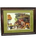 Edward Hicks Peaceable Kingdom Print Animals Framed 27.5 x 21.5 Wall Han... - $98.99