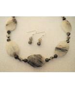 Black Quartz Large Tourmaline Necklace Earrings... - $42.50