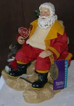"Musical Santa  9""  statue  ""American Hero""  2001  NIB w/tags  Box has sh... - $25.98"