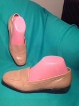 Women's Easy Spirit 7B ANTI-GRAVITY Tan Leather Flexible Loafers Slip On Shoes - $29.69
