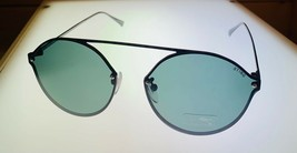 Sting Mens Black Round Metal Sunglass, Smoke Polarized Lens SST 191 531P - $31.49