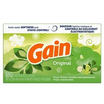 Gain Original Dryer Sheets 34 Count Box - $6.33