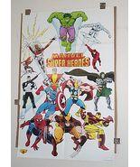 1989 Marvel poster:X-Men/Avengers/Thor/Hulk/Punisher/Spiderman/Ironman/W... - $59.99