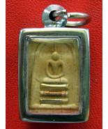 Very Rare! Holy Magic Somdet LP Mui Wat Don-Rai Old Thai Buddha Amulet - $19.99