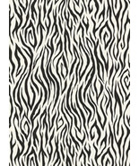 Black White Zebra Stripe Faux Animal Skin Safari Wallpaper York Wallcove... - $56.99