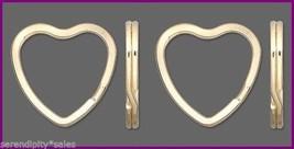 10 Key Rings ~ Heart Shape 32mm Sturdy Split Ri... - $6.23