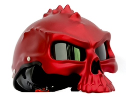 Masei 489 Matt Red Skull Motorcycle Chopper Helmet - $199.00