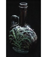 Antique 1830s Hand Painted Folk Art Bottle Flask Willow Tree - $70.00