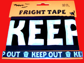 30-Ft Warning KEEP OUT Tombstone Fright Caution Tape Halloween Decoratio... - $3.93