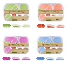 Silicone Lunch Box Collapsible Meal Food Storage Store Hold School Work ... - $11.78+