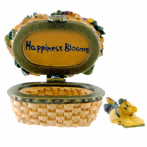 "Boyds Treasure Box ""Sage Basketblooms"" #392180LB-Longaberger LE-NIB-2008-Retired"