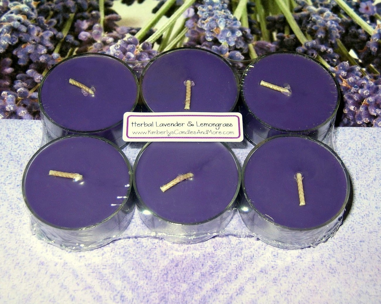 Tealights herbal lavender