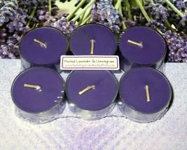 Herbal Lavender & Lemongrass PURE SOY Tea Lights (Set of 6) - $5.00