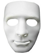 Blank Face White Mask - Use It For Dress Up - Halloween - Cosplay - Your... - ₹420.81 INR