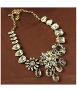 J Crew  Necklace Bib Crystal  colorful  Luxury Jewelry  - $78.90