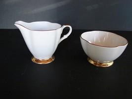 ROYAL ARDALT Bone China 2108 SUGAR & CREAMER White Gold Trim - $4.94