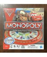 Disney Pixar CARS 2 Monopoly Lightning McQueen Racetrack Game Complete &... - $28.22