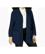 Style & Co. Women's Cardigan Size 2X Navy Chenille  Sweater Top Plus  - $18.80