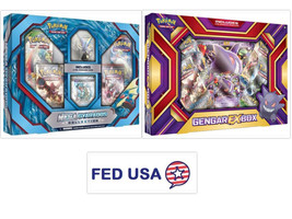 POKEMON TCG (2) Collection Boxes: Gengar EX Box + Mega Gyarados Gift Box... - $54.99