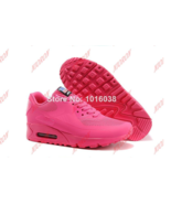 Nike Air Max 90 HYP Hyperfuse Women Prm American Flag running shoes, DARK PINK   - $85.00