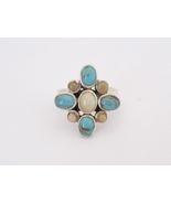 Vintage Modernist Sterling Silver Turquoise & J... - $50.00