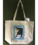 """Large Cat Art Canvas Tote Bag  - """"Homer with Bowl"""" - $45.00"""