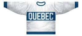 Any Name Number Quebec Bulldogs Retro Hockey Jersey White Any Size image 1