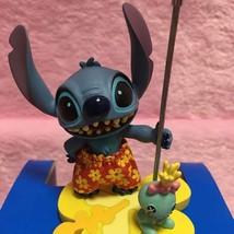 Tokyo Disney Resort Land Stitch Clip Stand PVC Figure Holder Ornament - $77.22