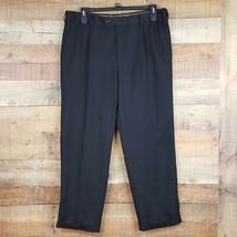 Saddlebred Dress Pants Mens Size 38x30 Black Ti10 - $12.86
