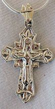 Catholic shiny silver pendant - $21.00