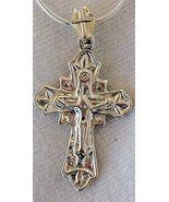 Catholic shiny silver pendant - $21.00