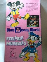 "Walt Disney World ""Mickey Mouse & Donald Duck"" Feelable Movables FOR PAR... - $4.88"