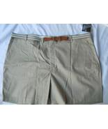 Men Knightsbridge Beige Dress Shorts Belt Size ... - $16.99
