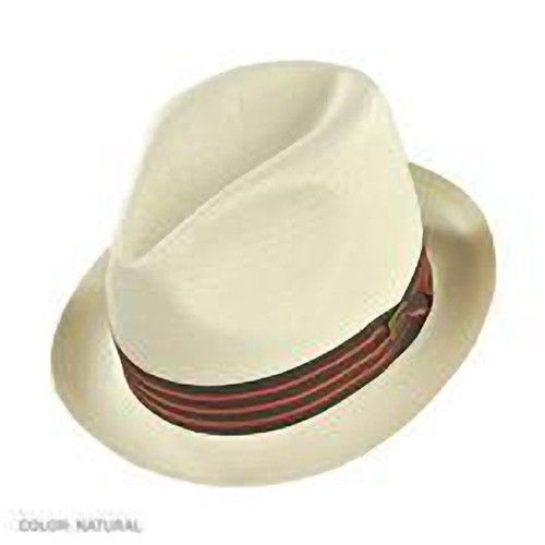 Dobbs Genuine Shantung Straw Fedora - The Camrose - Natural Color - Size M