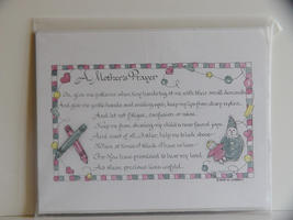Eydie Liebelt Calligraphy : A Mother's Prayer  Gift for New Mom - $4.99