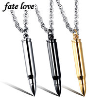 3pcs/lot Bullet pendant necklaces - $11.35