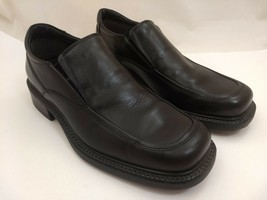 Bass Alvin Black Leather Men's Loafers Size 9.5 M Slip-On Shoes Very Good - $27.77