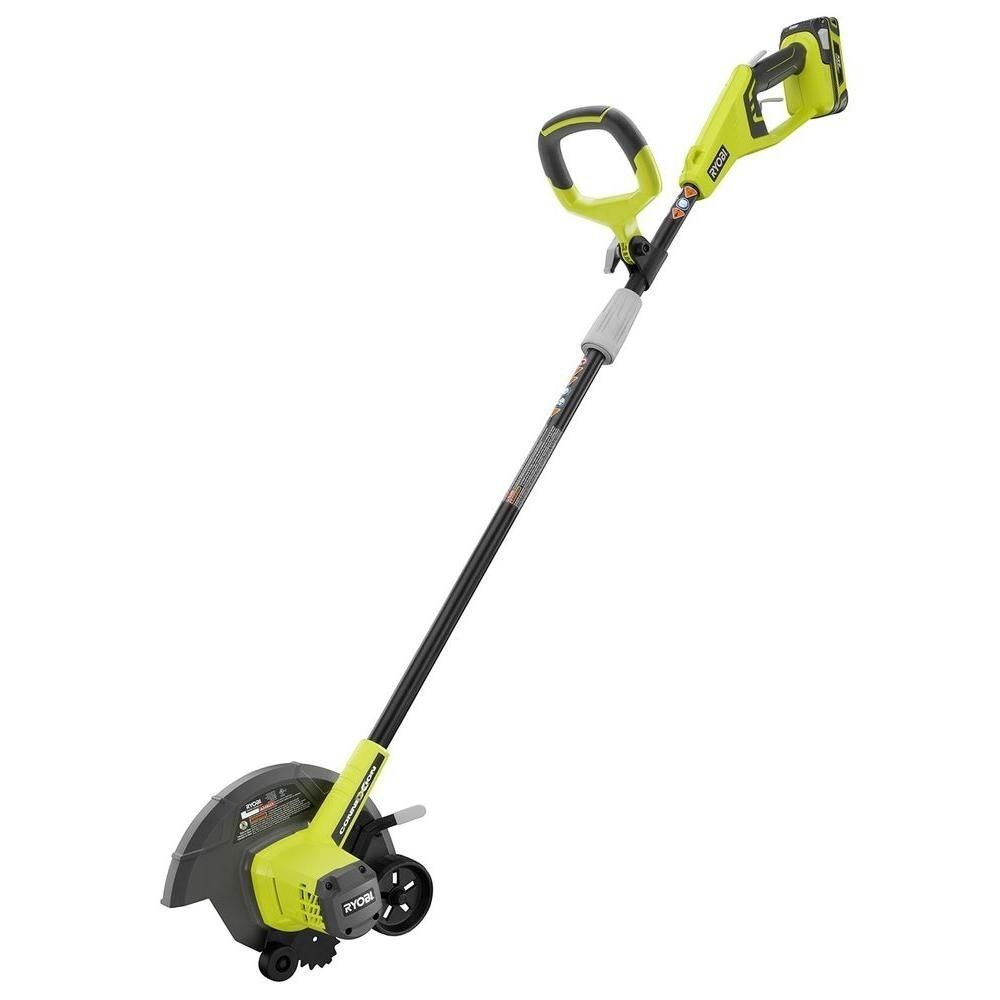 Ryobi 9 in 24 volt lithium ion cordless edger model for Electric garden hand tools