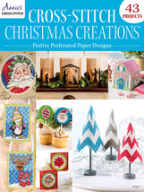 Christmas Creations Festive Cross Stitch Perforated Paper Annie's Public... - $13.50