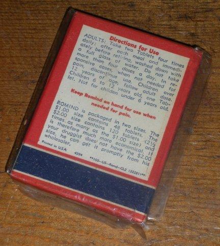 Romind Patent Medicine Vintage Drugstore Pharmacy